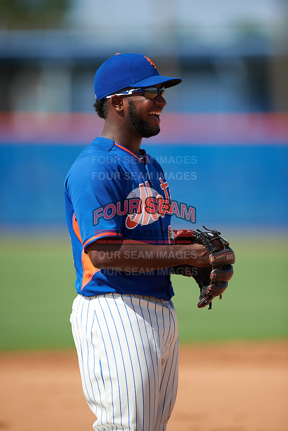 GCL Mets third baseman Franklin Correa (56) during the first game of a doubleheader against the GCL Marlins on July 24, 2015 at the St. Lucie Sports Complex in St. Lucie, Florida.  GCL Marlins defeated the GCL Mets 5-4.  (Mike Janes/Four Seam Images)