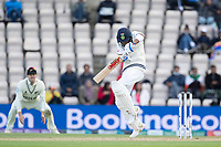 Virat Kohli, India gets in a tangle against a short Tim Southee, New Zealand delivery resulting in four leg byes during India vs New Zealand, ICC World Test Championship Final Cricket at The Hampshire Bowl on 22nd June 2021