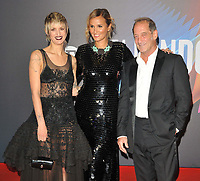 """Agathe Rousselle, Julia Ducournau and Vincent Lindon at the 65th BFI London Film Festival """"Titane"""" UK premiere, Royal Festival Hall, Belvedere Road, on Saturday 09th October 2021, in London, England, UK. <br /> CAP/CAN<br /> ©CAN/Capital Pictures"""