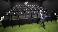 Pictured: American football player Landon DonovanTuesday 04 April 2017<br />Re: Official opening of the Fairwood Training Complex of Swansea City FC, Wales, UK