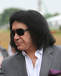 Gene Simmons of KISS fame before the 138th  running of the Grade I Preakness Stakes for 3-year olds, going 1 3/16 mile, at Pimlico Race Course.  Trainer D. Wayne Lukas.  Owners Calumet Farms