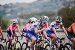 The peloton including Emilia Fahlin (SWE) FDJ Nouvelle Aquitaine Futuroscope in action during La Course By Le Tour de France 2020, running 96km from Nice to Nice, France. 29th August 2020.<br /> Picture: ASO/Thomas Maheux | Cyclefile<br /> All photos usage must carry mandatory copyright credit (© Cyclefile | ASO/Thomas Maheux)