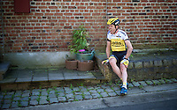Bram Tankink (NLD/LottoNL-Jumbo) screams out the pain after having been involved in a crash<br /> <br /> 100th Ronde van Vlaanderen 2016