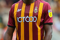 Bradford City players displaying heritage numbers on their shirts a first in English football during the Sky Bet League 2 match between Bradford City and Cambridge United at the Utilita Energy Stadium, Bradford, England on 3 August 2019. Photo by Thomas Gadd.