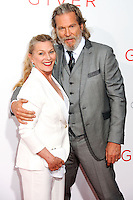 NEW YORK CITY, NY, USA - AUGUST 11: Susan Geston and Jeff Bridges arrive at the New York Premiere Of The Weinstein Company's 'The Giver' held at the Ziegfeld Theatre on August 11, 2014 in New York City, New York, United States. (Photo by Celebrity Monitor)