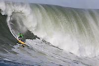 Shawn Rhodes. Mavericks Surf Contest in Half Moon Bay, California on February 13th, 2010.
