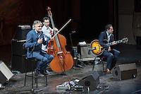 Nice le 27 Fevrier 2017 Opera de Nice Concert de Dider Lockwood Trio Didier Lockwood violon Diego Imbert ContreBasse Noe Reinhardt Guitare