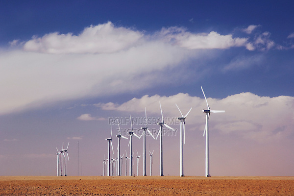 Electric Windmill, Wind power plant, Two Buttes, Colorado, USA, February 2006