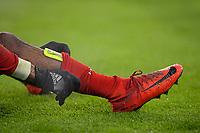 20.02.2018, Football UEFA Champions League 2017/2018, , FC Bayern Muenchen - Besiktas Istanbul, in Allianz Arena Muenchen, Kingsley Coman (Bayern Muenchen) <br /> Schienbeinschuetzer Stutzen *** Local Caption *** © pixathlon<br /> <br /> Contact: +49-40-22 63 02 60 , info@pixathlon.de