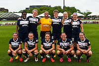 Sky Blue FC starting eleven. Sky Blue FC defeated the Seattle Reign FC 2-0 during a National Women's Soccer League (NWSL) match at Yurcak Field in Piscataway, NJ, on May 11, 2013.
