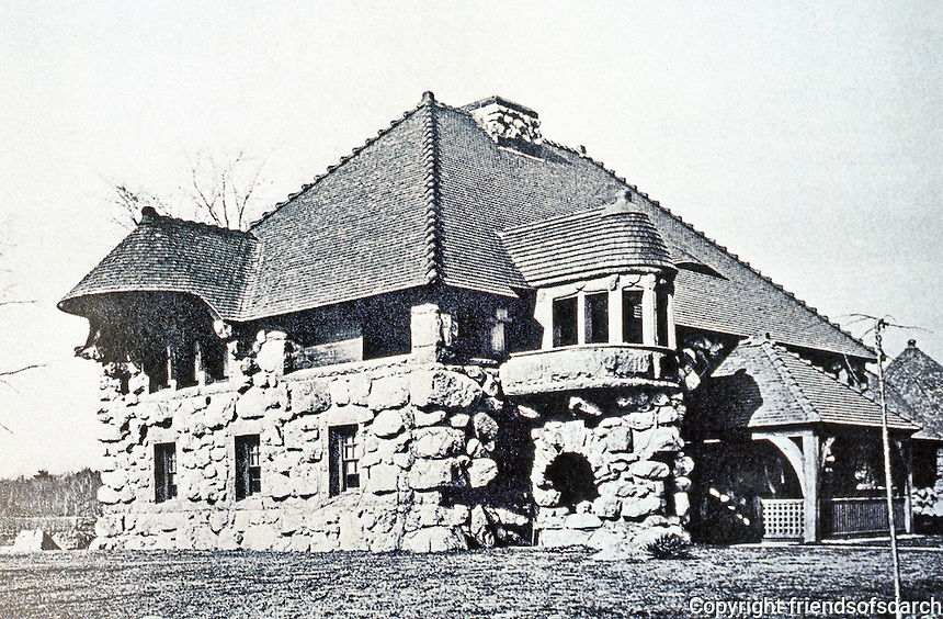 H. H. Richardson: Ames Gate Lodge, N. Easton, MA, 1880. Romanesque style.