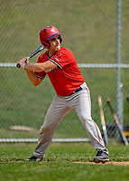 15 September 2019: Burlington Mayor and Cardinal infielder Miro Weinberger in action against the Waterbury Warthogs at Burlington High School in Burlington, Vermont. The Warthogs edged out the Cardinals 2-1 in post season play. Mandatory Credit: Ed Wolfstein Photo *** RAW (NEF) Image File Available ***
