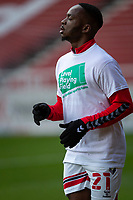 13th March 2021; Riverside Stadium, Middlesbrough, Cleveland, England; English Football League Championship Football, Middlesbrough versus Stoke City; Neeskens Kebano of Middlesbrough pre game warm up