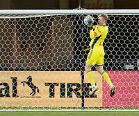 WASHINGTON, DC - SEPTEMBER 12: Ryan Meara #1 of the New York Red Bulls makes a save during a game between New York Red Bulls and D.C. United at Audi Field on September 12, 2020 in Washington, DC.