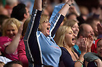 Cardiff Blues v Leicester Tigers - Heineken Cup Semi-Final at the Millennium Stadium in Cardiff..Cardiff Blues fans celebrate Tom James try..