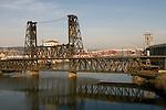 The Steel Bridge in Portland, Oregon