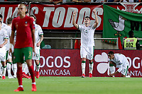 1st September 2021; Faro, Algarve, Portugal:  Irelands defender John Egan celebrates after scoring a goal during the FIFA World Cup,  2022 European qualifying round group A football match between Portugal and the Republic of Ireland in Faro, Portugal