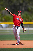 Boston Red Sox Victor Acosta (13) during practice before a minor league Spring Training game against the Tampa Bay Rays on March 23, 2016 at Charlotte Sports Park in Port Charlotte, Florida.  (Mike Janes/Four Seam Images)