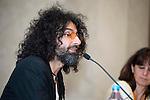 Lebanese violinist Ara Malikian during the presentation of his next concert tour at Teatro Real in Madrid. April 12, 2016. (ALTERPHOTOS/Borja B.Hojas)