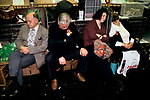 Crufts Dog Show, tired exhausted owners sleeping National Exhibition Centre Birmingham 1991 1990s UK
