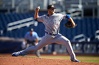 Mesa Solar Sox pitcher Ryan McNeil (47), of the Chicago Cubs organization, during a game against the Peoria Javelinas on October 19, 2016 at Peoria Stadium in Peoria, Arizona.  Peoria defeated Mesa 2-1.  (Mike Janes/Four Seam Images)