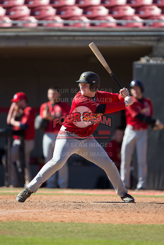 Jimmy Goldsmith (25) of James Madison High School in Vienna, Virginia playing for the St. Louis Cardinals scout team at the South Atlantic Border Battle at Doak Field on November 2, 2014.  (Brian Westerholt/Four Seam Images)