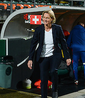 20160302 – DEN HAAG ,  NEDERLAND : Coach of Switzerland Martina Voss-Tecklenburg pictured during the Olympic Qualification Tournament  soccer game between the women teams of Switzerland and The Netherlands, The first game for both teams in the Olympic Qualification Tournament for the Olympic games in Rio de Janeiro - Brasil, Wednesday 2 March 2016 at Kyocera Stadium in The Hague , Netherlands  PHOTO DAVID CATRY