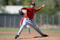 Los Angels Angels of Anaheim pitcher Nate Smith (28) during an instructional league game against the Colorado Rockies on September 30, 2013 at Tempe Diablo Stadium Complex in Tempe, Arizona.  (Mike Janes/Four Seam Images)