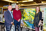Brendan coffey Irish pilgrimage Trust Tina Reed artist and at the Killarney Rotary club Wine and ARt evening in the Great Southern Hotel