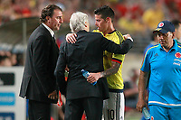 Colombia's coach Jose Nestor Pekerman with James Rodriguez during international friendly match. June 7,2017.(ALTERPHOTOS/Acero) (NortePhoto.com) (NortePhoto.com)