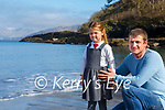 Muireann & Alan Houlihan at Glanleam Bay with 'Lough an iasc' in the background where Valentia's newest star decided to rest up on Sunday.