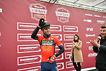 Vincenzo Nibali (ITA) Bahrain-Merida at sign on before the start of the 2018 Strade Bianche NamedSport race running 184km from Siena to Siena, Italy. 3rd March 2018.<br /> Picture: LaPresse/Massimo Paolone | Cyclefile<br /> <br /> <br /> All photos usage must carry mandatory copyright credit (© Cyclefile | LaPresse/Massimo Paolone)