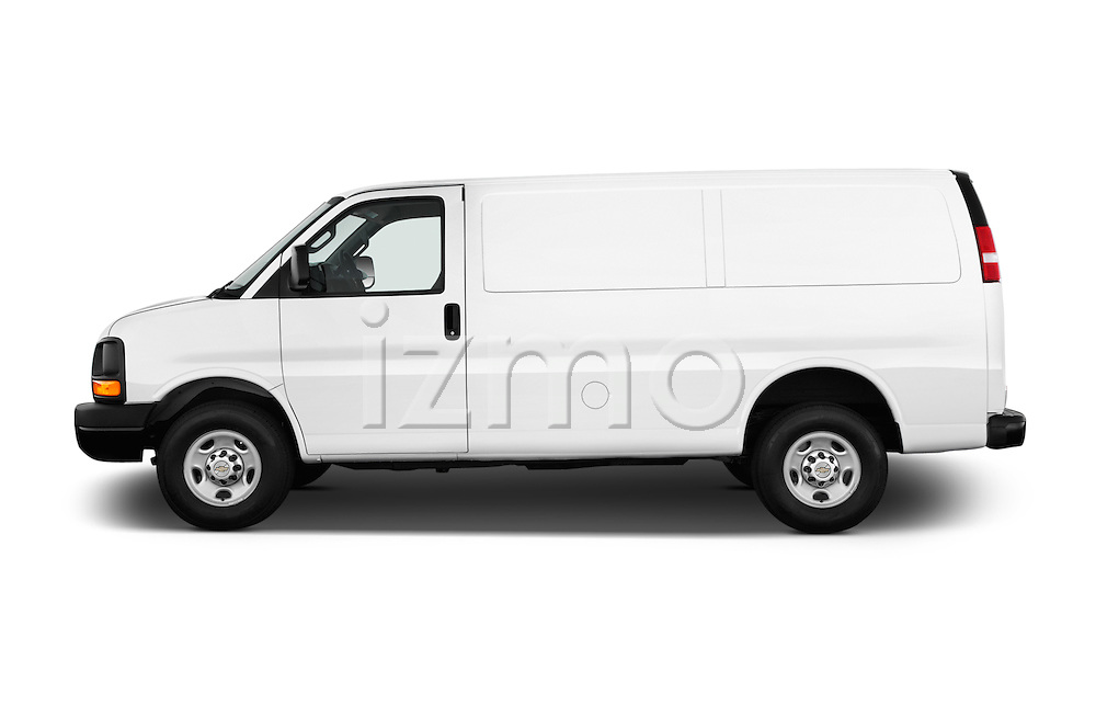 Car Driver side profile view of a 2016 Chevrolet Express-Cargo 2500-Work-Van-HD 4 Door Cargo Van Side View