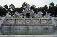 Vienna: Schonbrunn Palace--the Neptune Fountain. Photo '87.