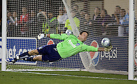 Joe Cannon saves the ball. San Jose Earthquakes defeated Houston Dynamo 3-2 at Buck Shaw Stadium in Santa Clara, California on March 28th, 2009.