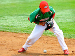 21 August 10: Mexico's 2B Alvaro ROdriguez with an early, and inconsequential, booted grounder in the Cal Ripken Babe Ruth World Series 12U Majors in Aberdeen, Maryland