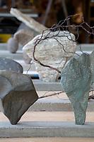 Sculptures close up