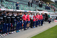 ST. GALLEN, SWITZERLAND - MAY 30: USMNT bench during a game between Switzerland and USMNT at Kybunpark on May 30, 2021 in St. Gallen, Switzerland.