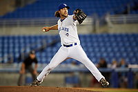 Dunedin Blue Jays relief pitcher Tom Robson (12) delivers a pitch during a game against the Clearwater Threshers on April 8, 2017 at Florida Auto Exchange Stadium in Dunedin, Florida.  Dunedin defeated Clearwater 12-6.  (Mike Janes/Four Seam Images)