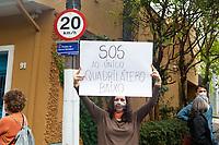 São Paulo (SP), 22/05/2021 - Moradores do bairro de Pinheiros em São Paulo realizaram um protesto neste sábado (22) contra o projeto de verticalização na região.