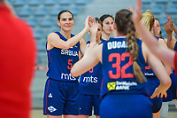 Sonja Vasic (5) of Serbia pictured during a basketball game between the national teams of Puerto Rico and Serbia on Sunday 30 th of May 2021 in Kortrijk , Belgium . PHOTO SPORTPIX.BE | SPP | STIJN AUDOOREN