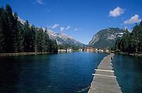 Europe/Autriche/Tyrol/Env Leutasch: Le lac Waidachsee