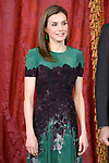 Queen Letizia of Spain receives Costa Rica's President Guillermo Solis and wife Mercedes Penas Domingo for an official lunch at the Royal Palace in Madrid. May 8 ,2017. (ALTERPHOTOS/Pool)