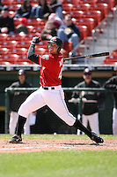 May 5th 2008:  Designated Hitter Michael Aubrey of the Buffalo Bisons, Class-AAA affiliate of the Cleveland Indians, during a game at Dunn Tire Park in Buffalo, NY.  Photo by Mike Janes/Four Seam Images