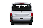 Straight rear view of 2020 Volkswagen Transporter - 4 Door Passenger Van Rear View  stock images