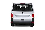 Straight rear view of 2020 Volkswagen Transporter - 4 Door Passenger Van Rear View  stock images