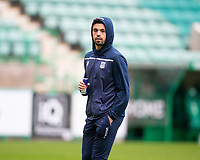 15th November 2020; Easter Road, Edinburgh, Scotland; Scottish League Cup Football, Hibernian versus Dundee FC; Declan McDaid of Dundee inspects the pitch before the match