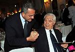 PAOLO CUCCIA E CESARE GERONZI<br /> PREMIO GUIDO CARLI - SECONDA  EDIZIONE<br /> RICEVIMENTO A CASINA VALADIER  ROMA 2011