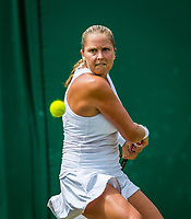London, England, 8 th July, 2017, Tennis,  Wimbledon, Shelby Rogers (USA)<br /> Photo: Henk Koster/tennisimages.com