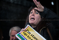 """Greek Political Activist.<br /> <br /> London, 22/03/2014. """"Stand Up To Racism & fascism - No to Scapegoating Immigrants, No to Islamophobia, Yes to Diversity"""", national demo marking UN Anti-Racism Day organised by TUC (Trade Union Congress) and UAF (Unite Against Fascism).<br /> <br /> For more information please click here: http://www.standuptoracism.org.uk/"""